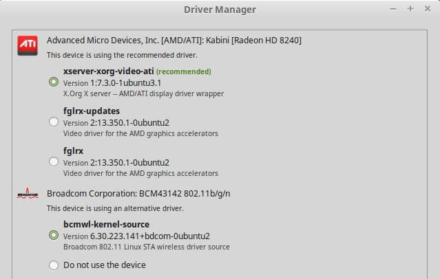 LINUX MINT BROADCOM STA WIRELESS DRIVER UPDATE