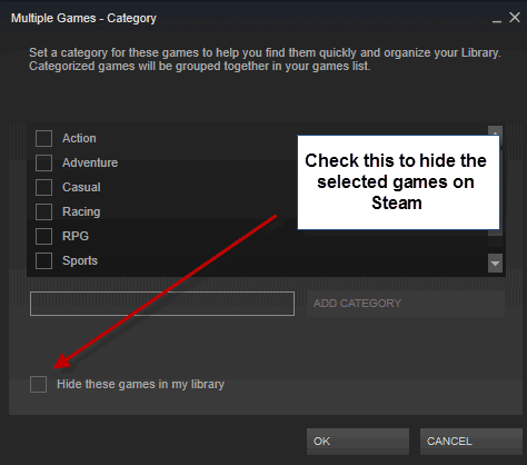 How to hide games in your Steam library