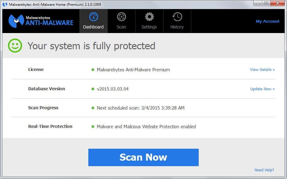 malwarebytes new interface