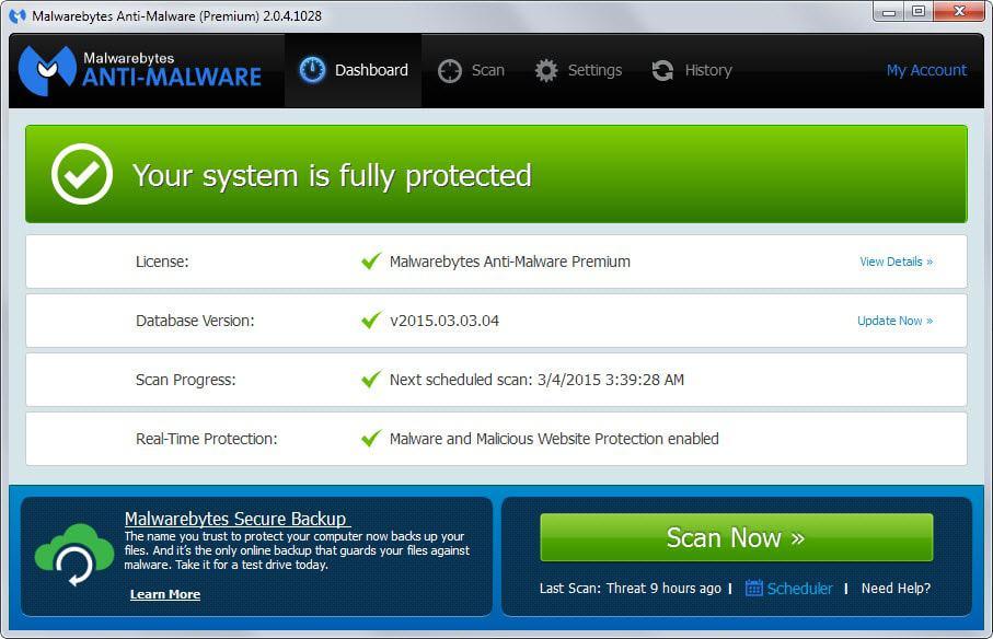 malwarebytes old interface