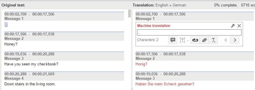 original translation
