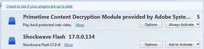 primetime-content decryption module adobe