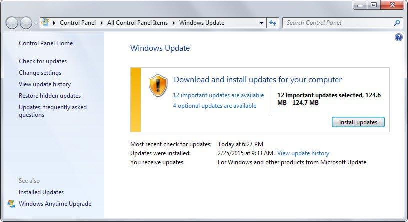 windows updates march 2015