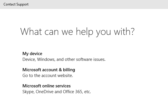 Tech Support one click away in Windows 10
