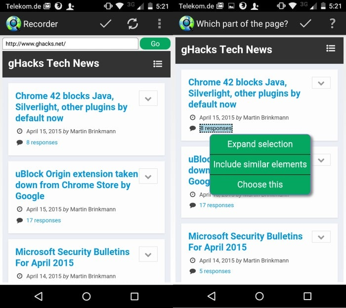 create web alerts android