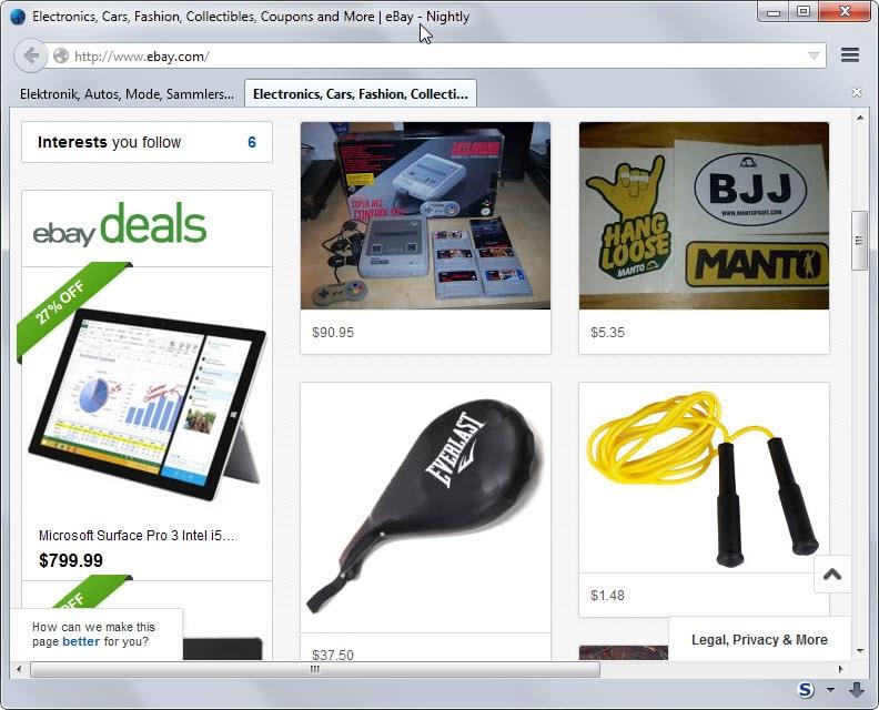 ebay item suggestions