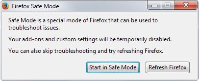 firefox safe mode