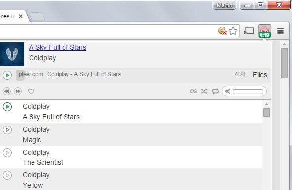 Free music player - Chrome Web Store