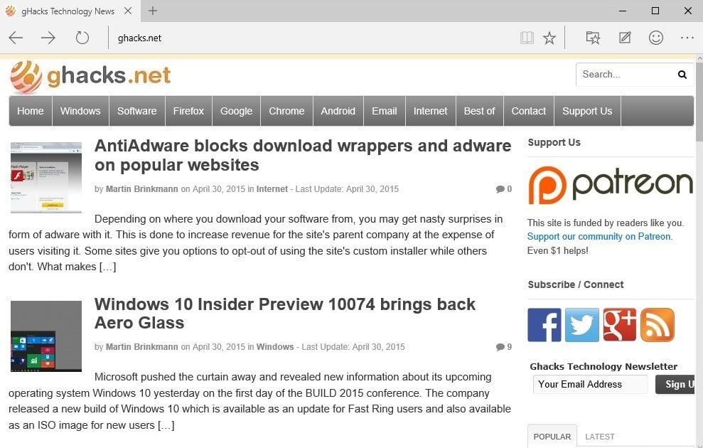 Would you use Microsoft Edge if it supported your favorite extensions
