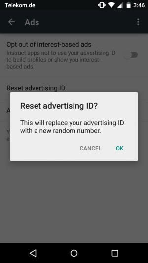How to reset your advertising ID on Android