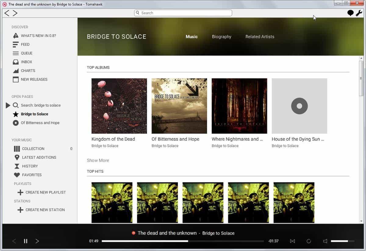 tomahawk music search