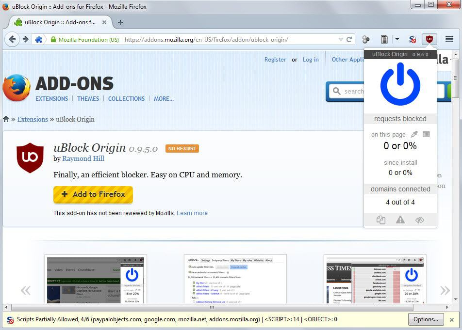 ublock origin firefox