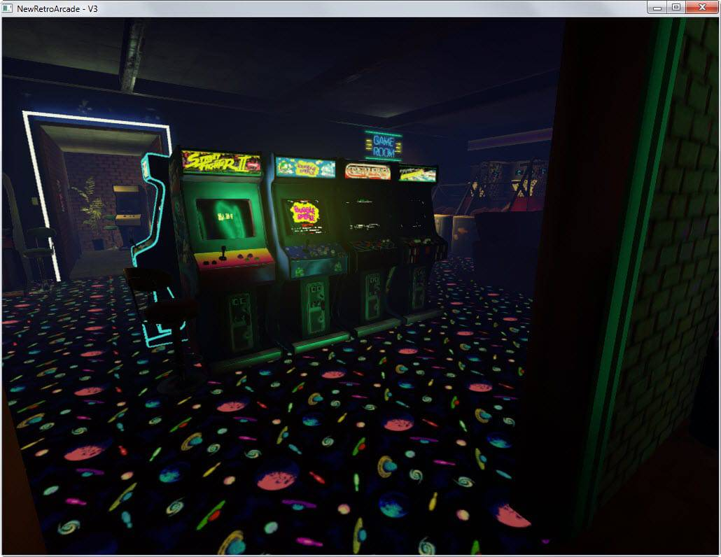 NewRetroArcade brings a virtual reality arcade system to Windows