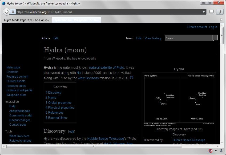 firefox night mode