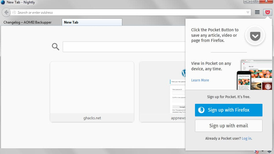 How to disable Pocket in Firefox