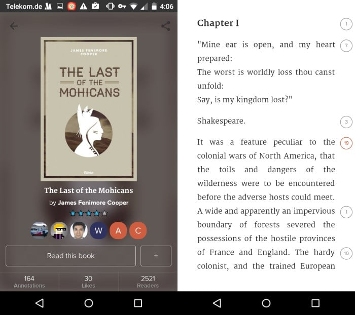Glose's social ebook reader released for Android
