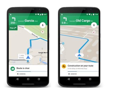 google maps traffic information
