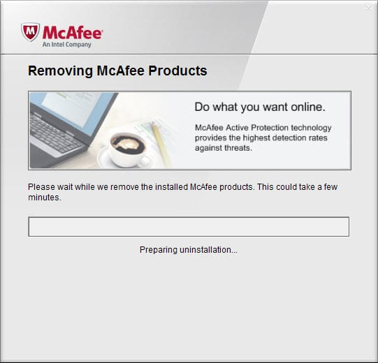 removing mcafee