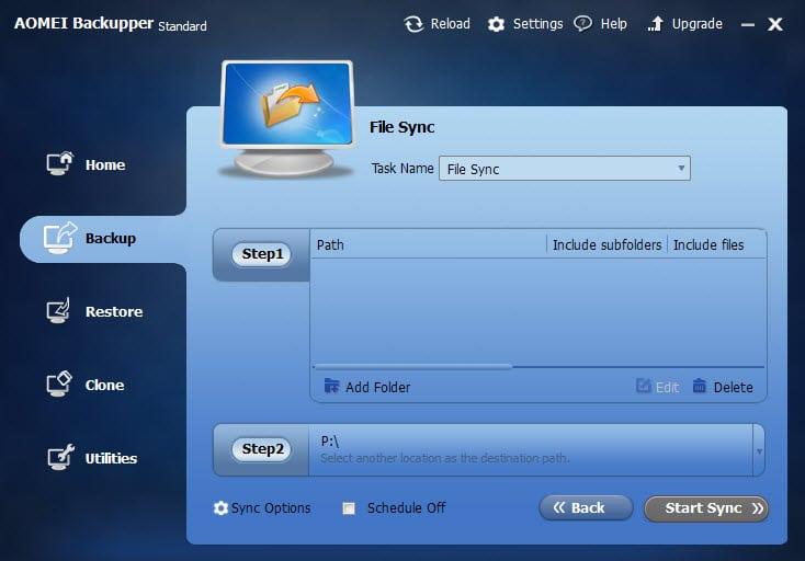setup file synchronization