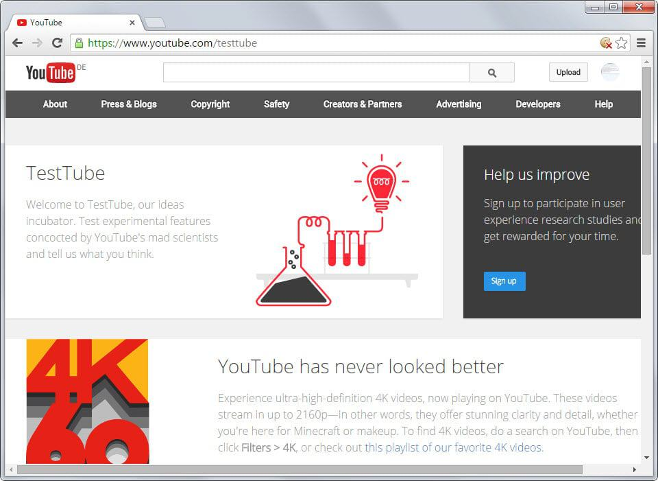 TestTube lets you join experiments on YouTube