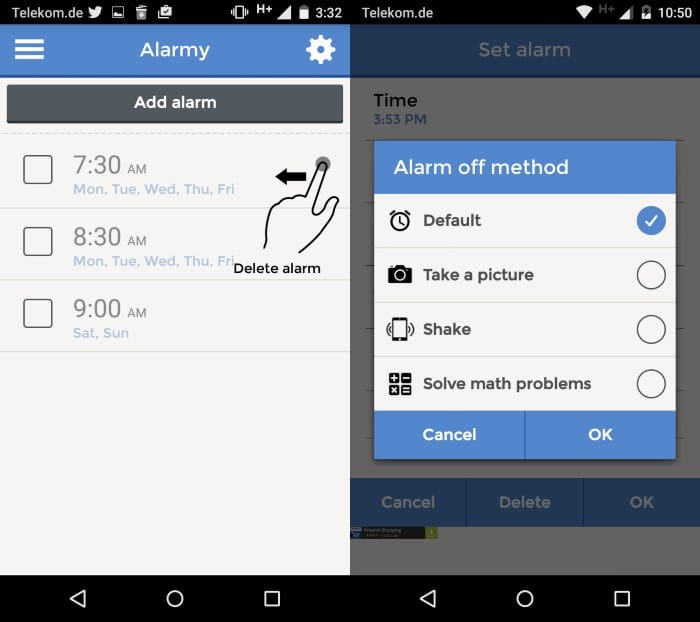 Alarmy is probably the most annoying alarm clock app out there
