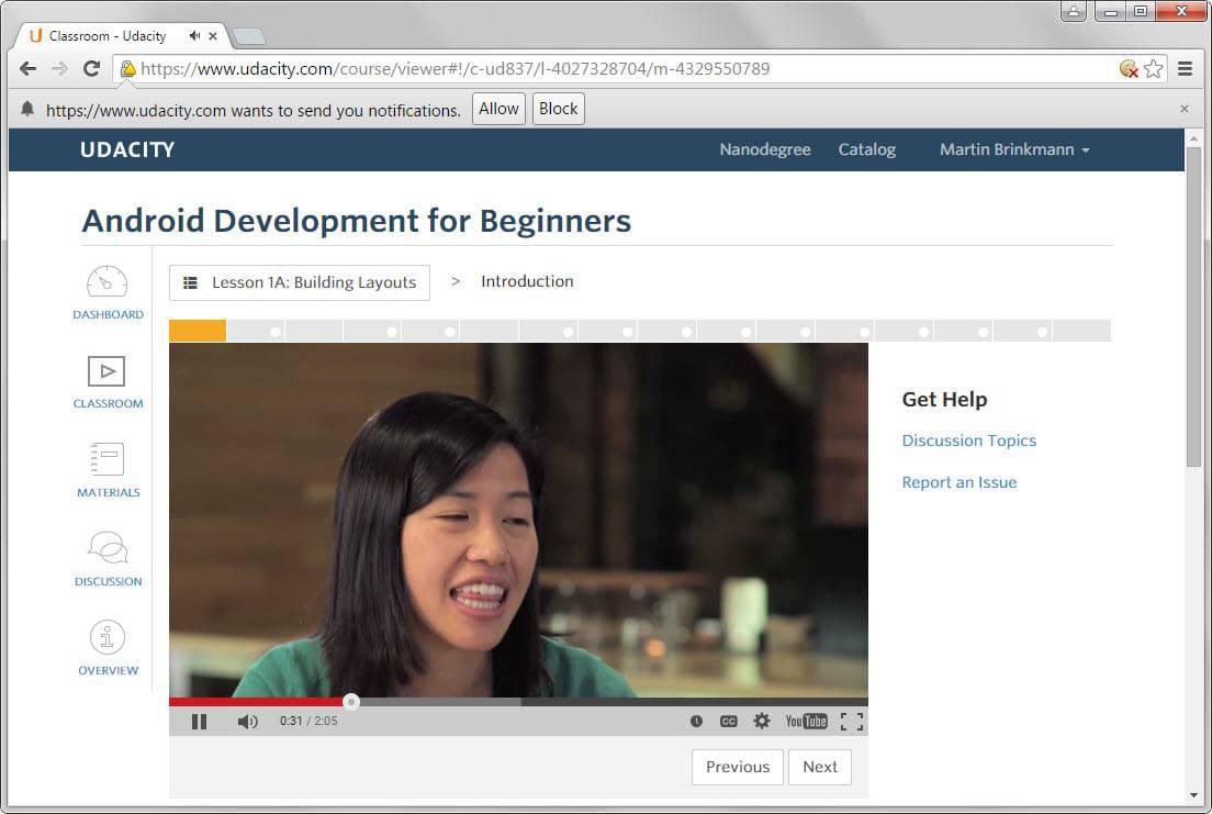 android development courses google