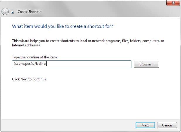 command prompt shortcut windows