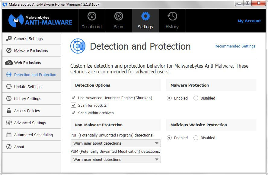 detection protection