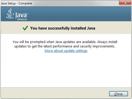 java install success