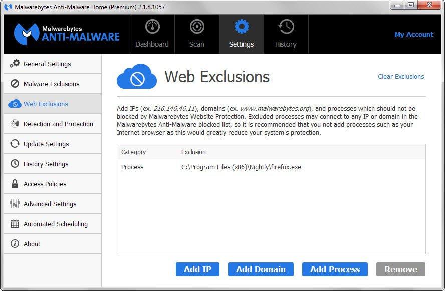 Malwarebytes Anti-Malware Premium configuration guide