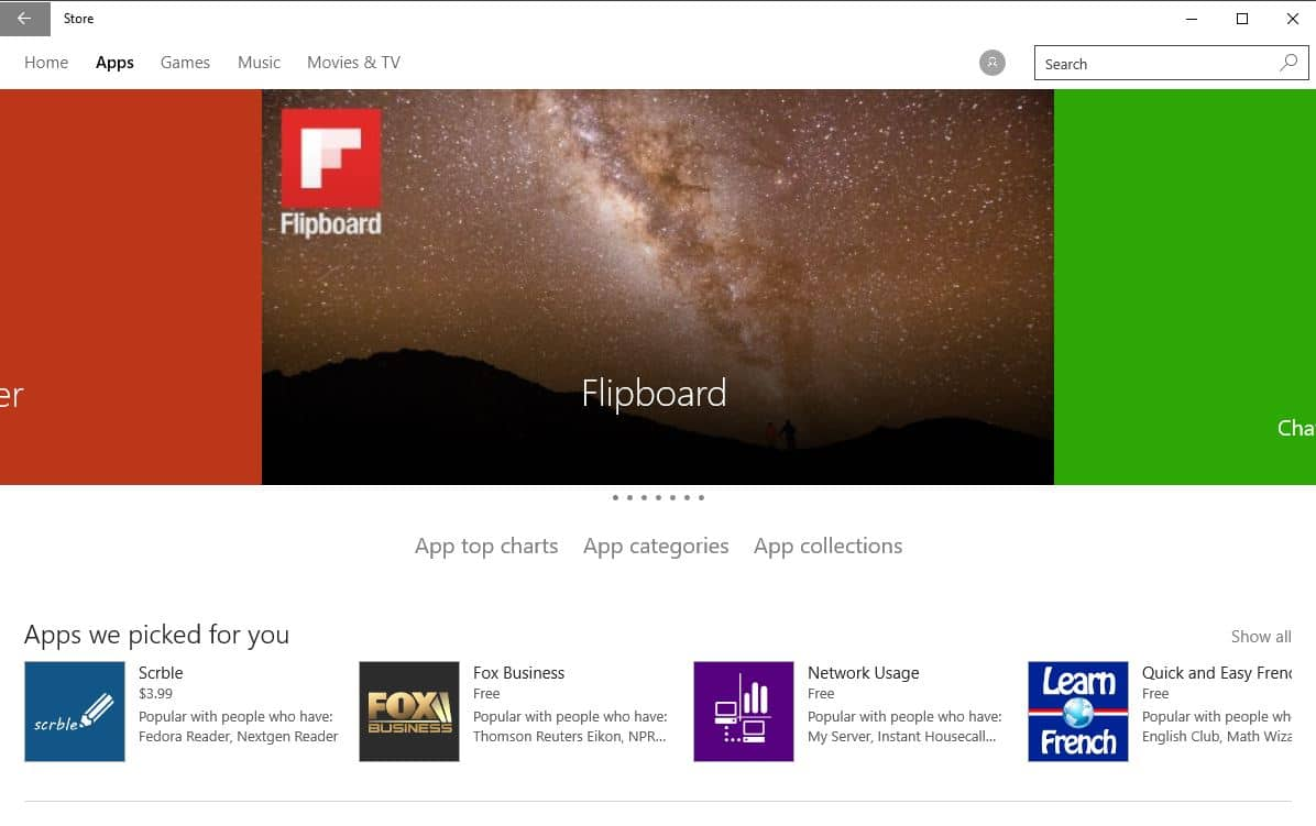 new windows store