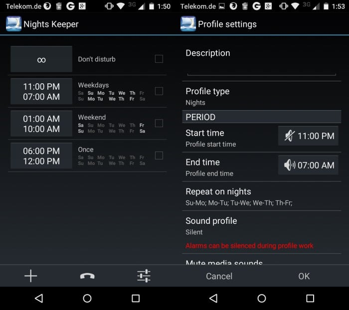 Nights Keeper for Android: Do Not Disturb with Whitelist