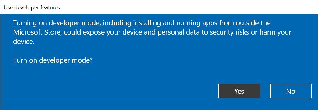 turn on developer mode