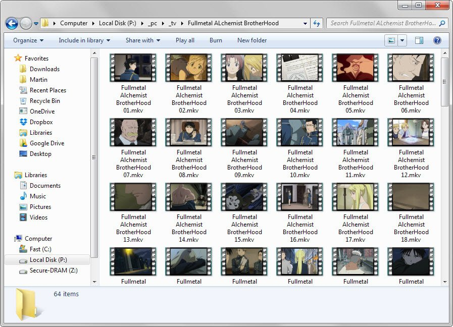 video thumbnails windows