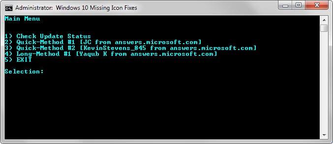 windows 10 missing icons fix