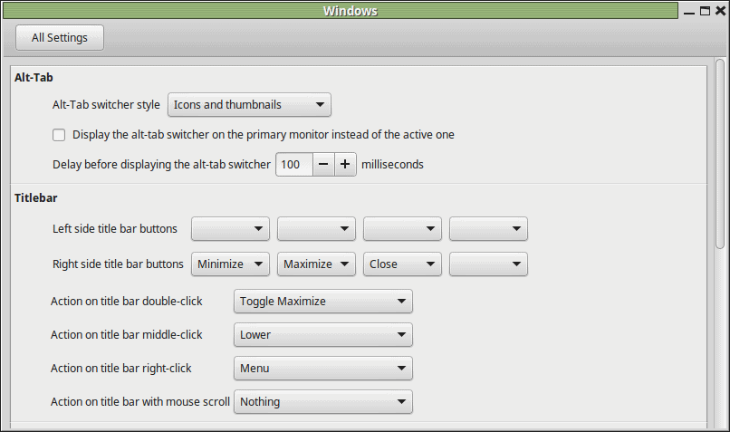 windows customization linux mint 1