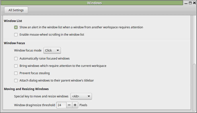 windows customization linux mint 2