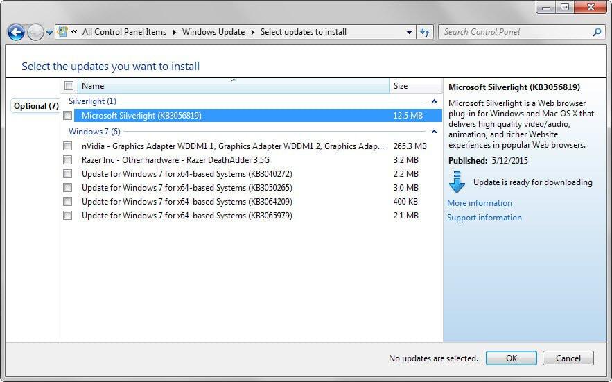 windows updates optional june 2015