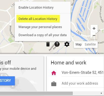delete location history