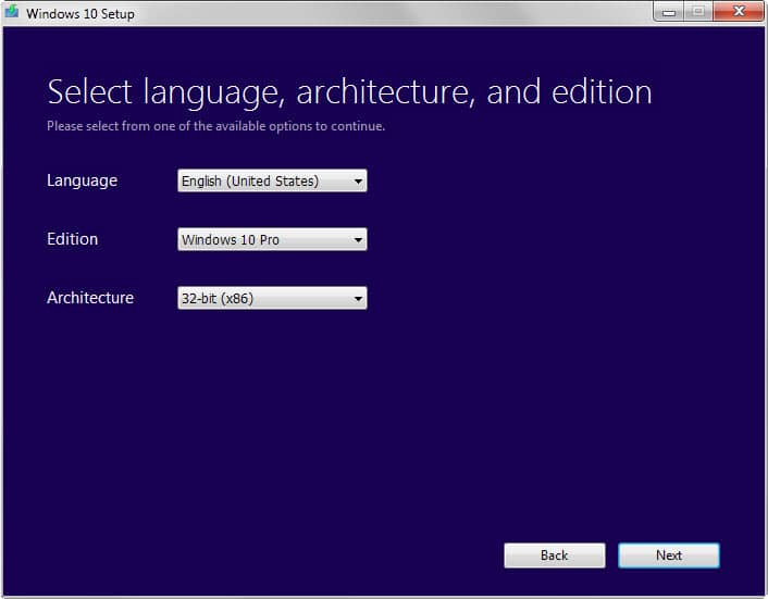 windows 10 language edition architecture