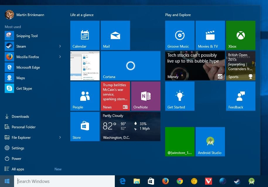 How to open multiple Windows Start Menu apps in one go