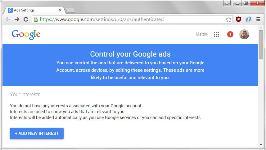 control your google ads