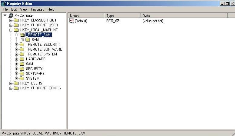 edit registry