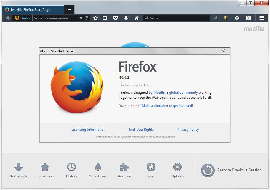 Mozilla releases Firefox 40.x updates to fix issues in the browser