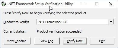 NET Framework verification and cleanup tools for Windows 10