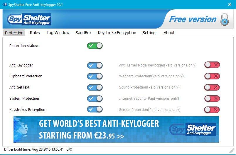 spyshelter free anti keylogger