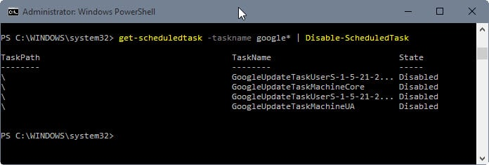 disable scheduledtasks