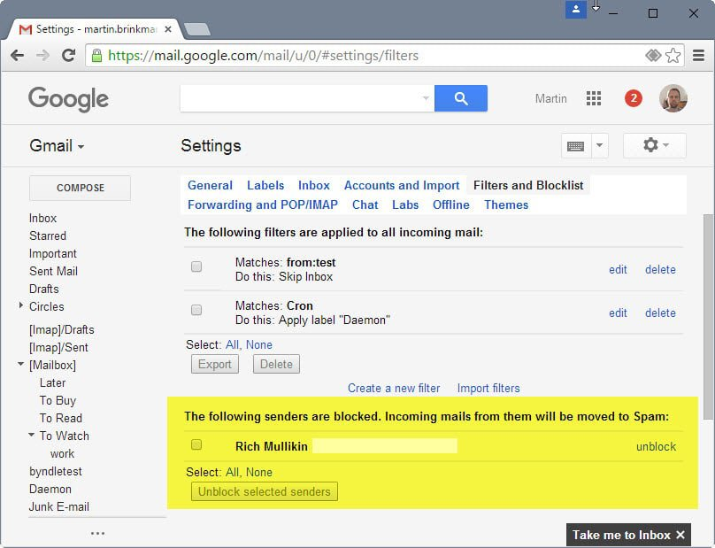 gmail blocked senders