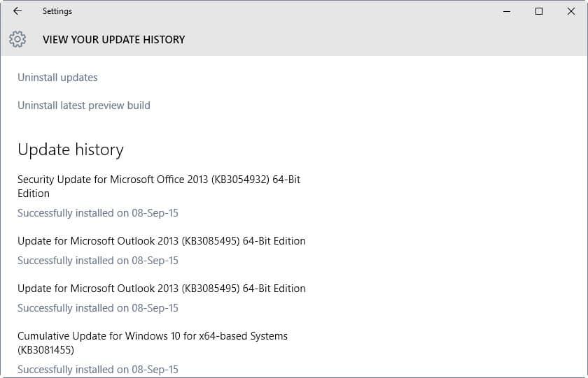 september 2015 updates microsoft windows