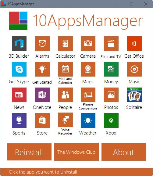 Remove or restore Windows 10 default apps with 10AppsManager